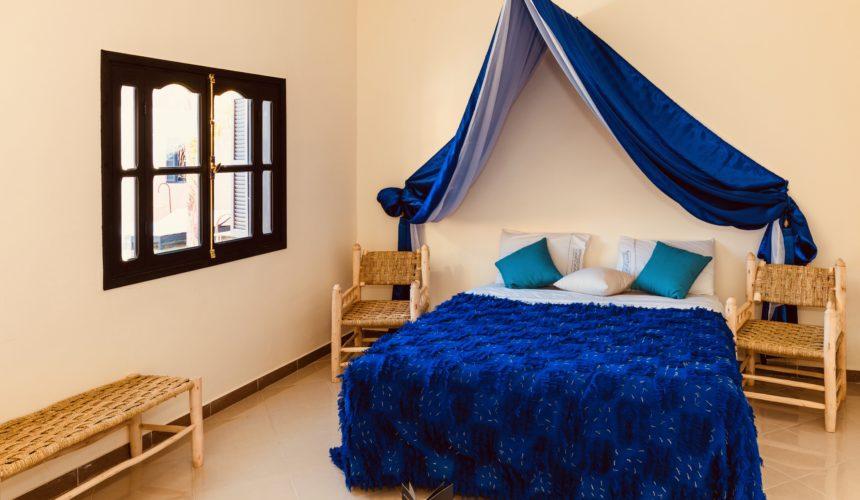 Chambre bleue, Riad Marrakech, Coco Canel