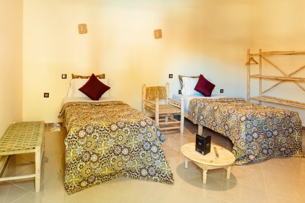 Chambre lits jumeaux, Riad Marrakech, Coco Canel